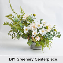 DIY Greenery Centerpiece