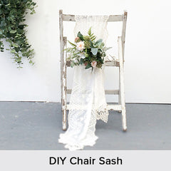 DIY Chair Sash