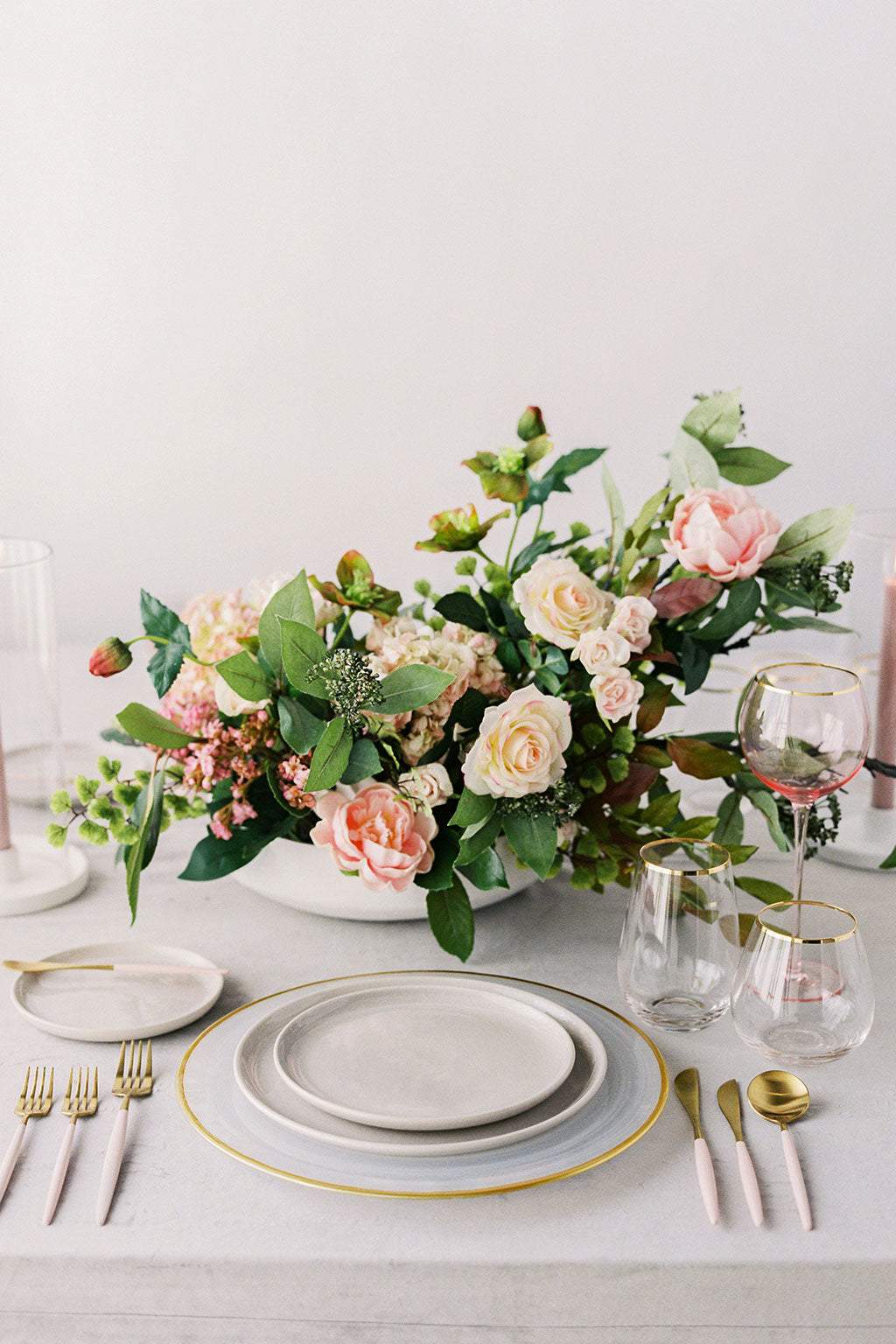 Pink Whimsical Silk Flower Centerpiece
