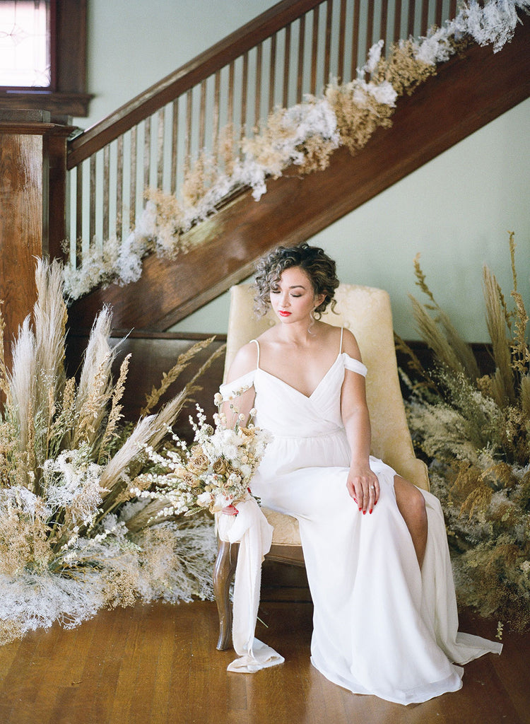 DIY Dried Flower Wedding