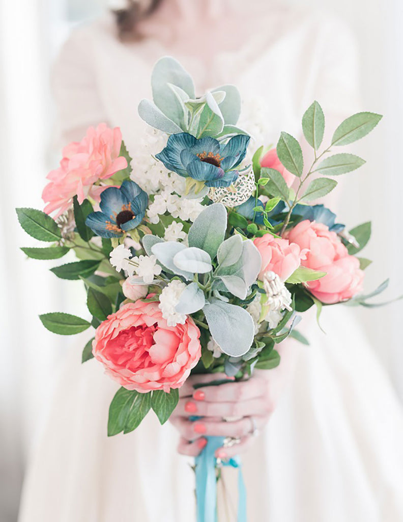 Get The Look: Pink Spring Silk Flower Bridal Bouquet – Afloral.com