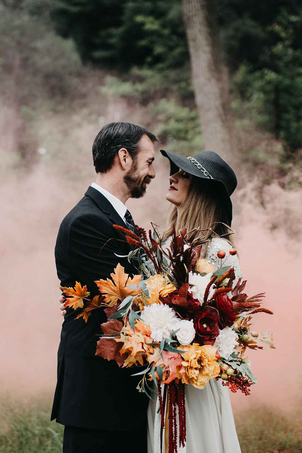 Get The Look Wedding Bouquet Made With Silk Fall Flowers Afloral