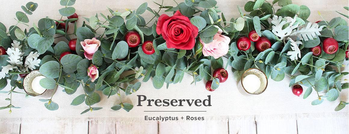 Dried Eucalyptus and Roses