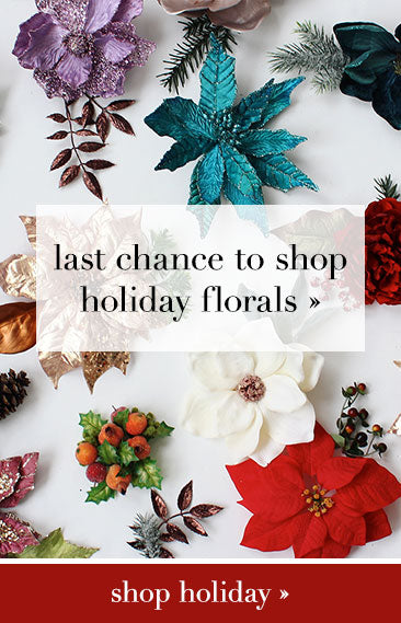 Last chance to shop holiday florals