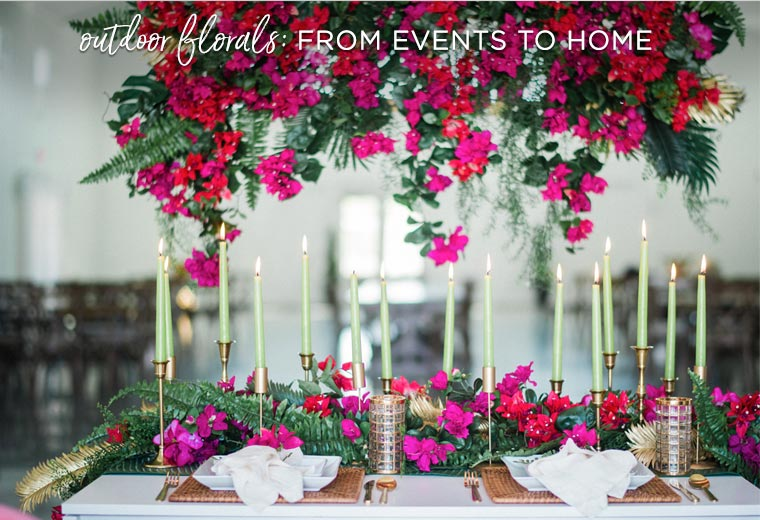 Outdoor flowers: from events to home