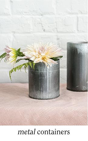 Metal Floral Containers
