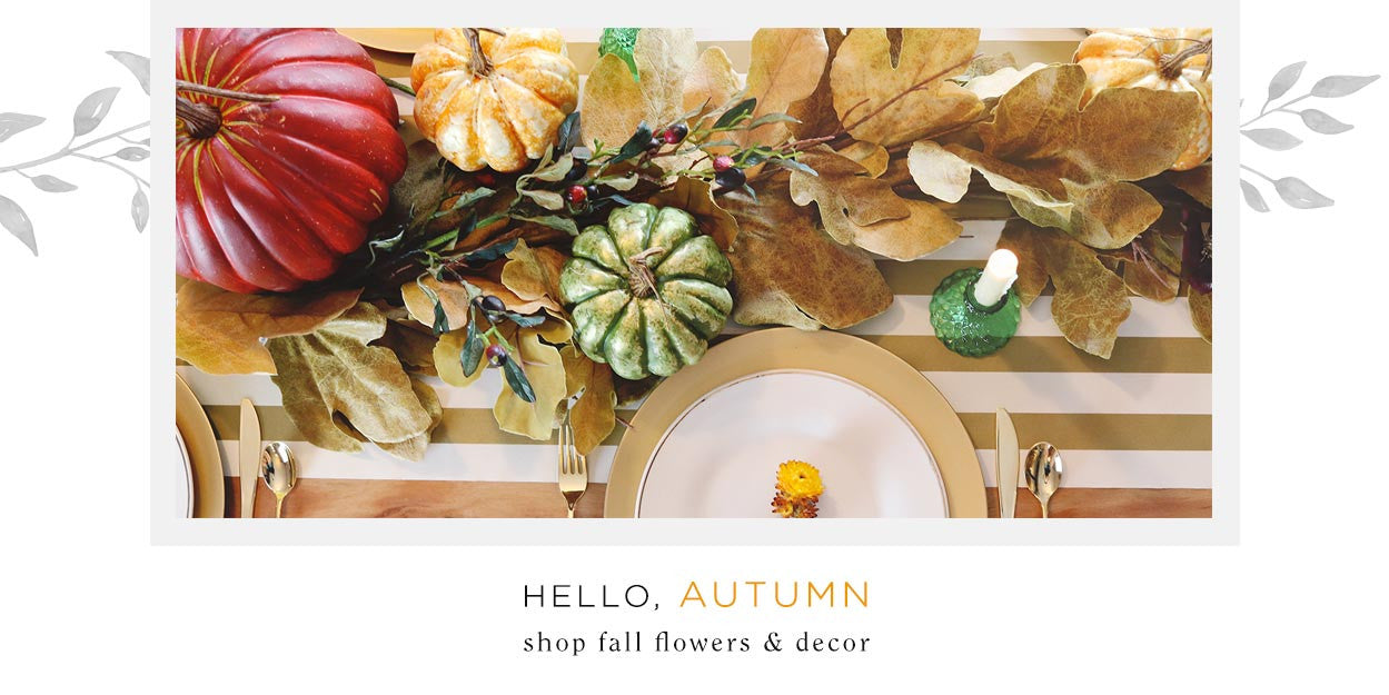 Faux Fall Flowers and Decor