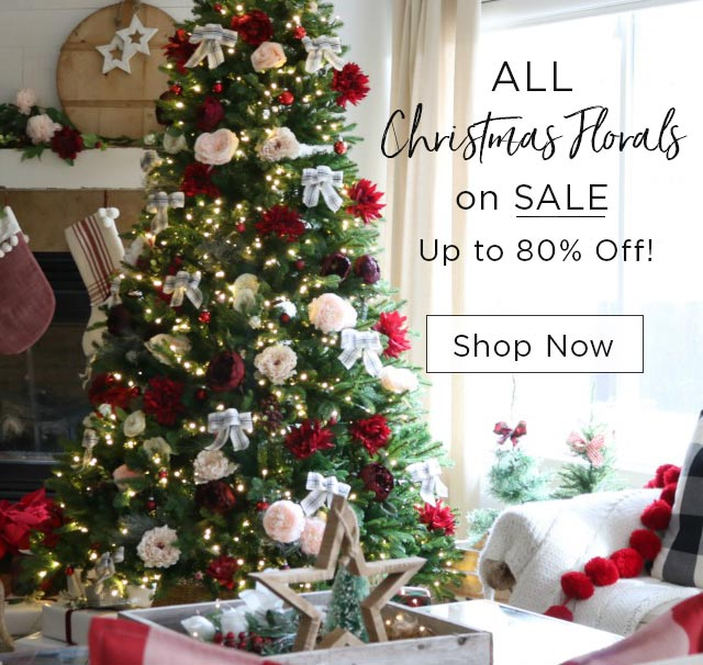 All Christmas florals on sale