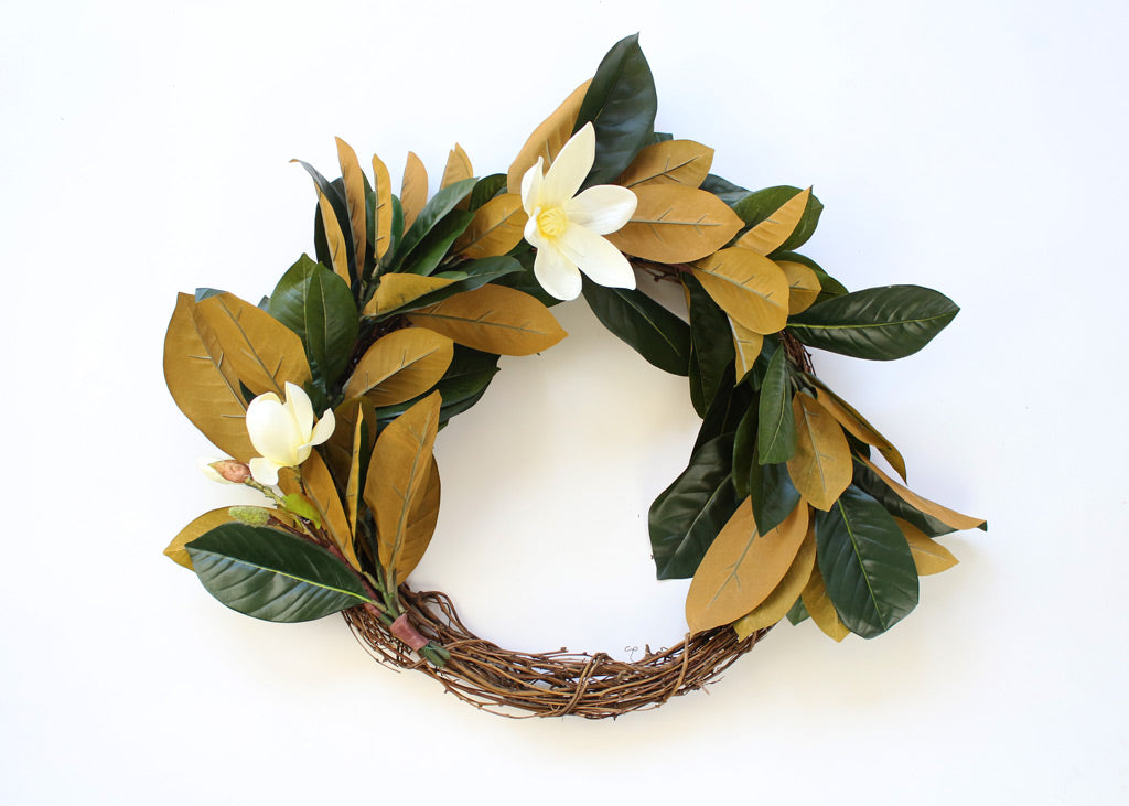 Magnolia Wreath DIY