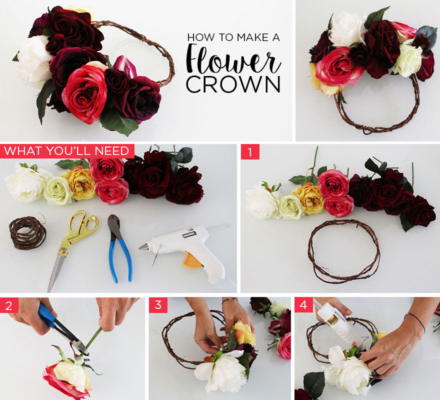 How to make a flower crown without wire