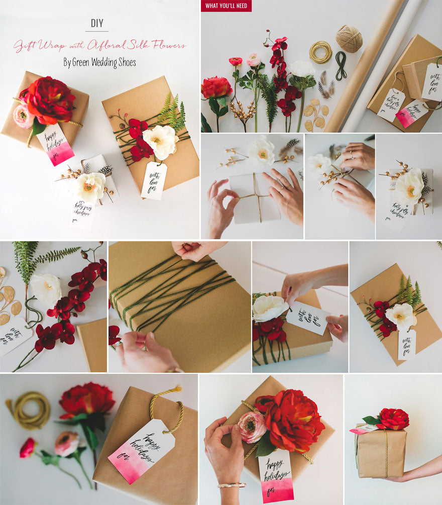 DIY Gift Wrapping Ideas - Silk Flowers – Afloral.com