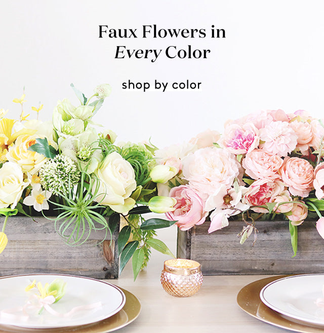 Artificial Flowers In Every Color