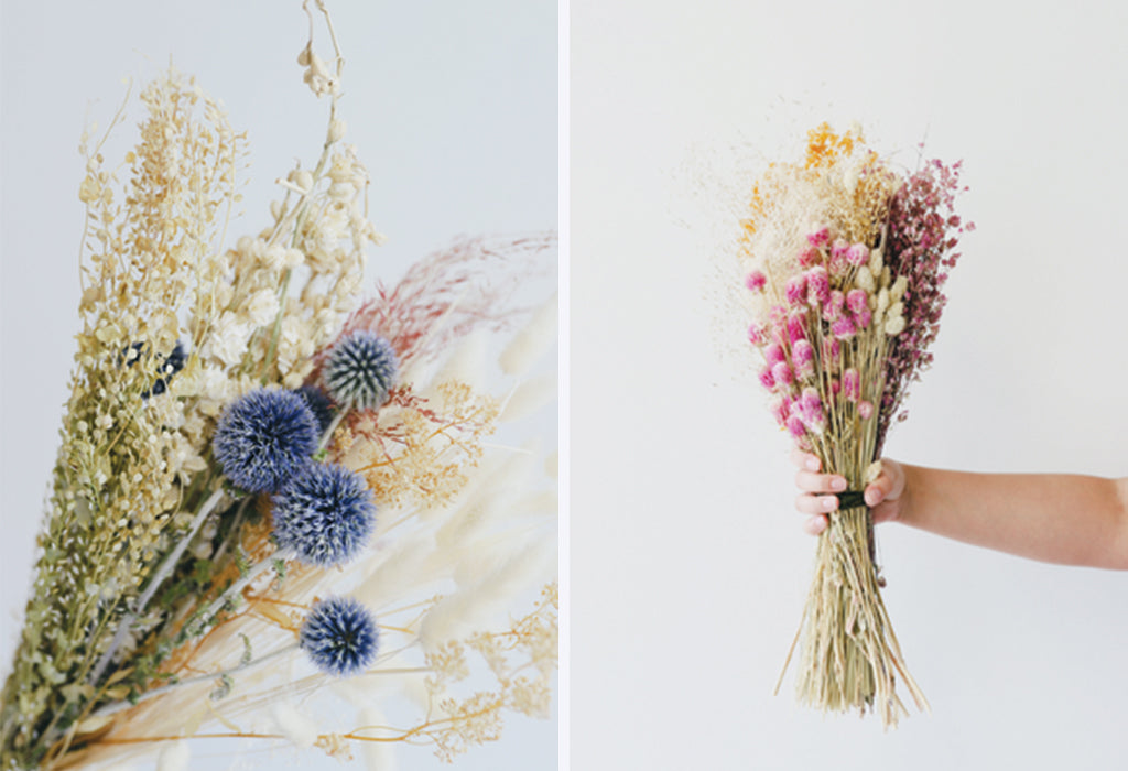 dried flower bouquet, dried flower bundle, dried flowers, dried florals