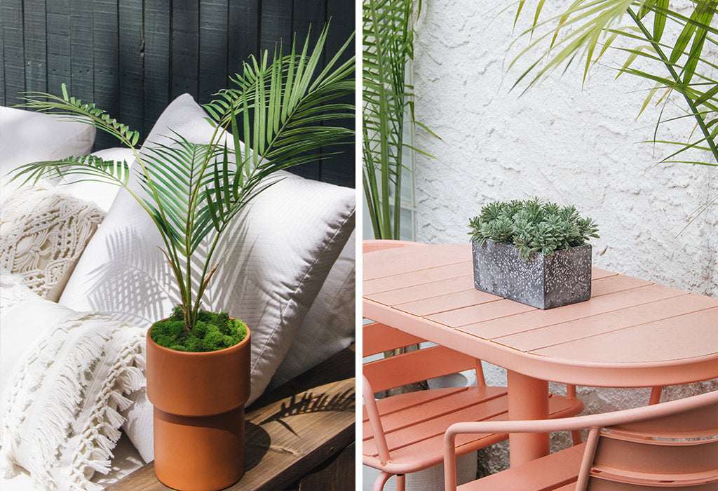 outdoor artificial plants and flowers for your patio