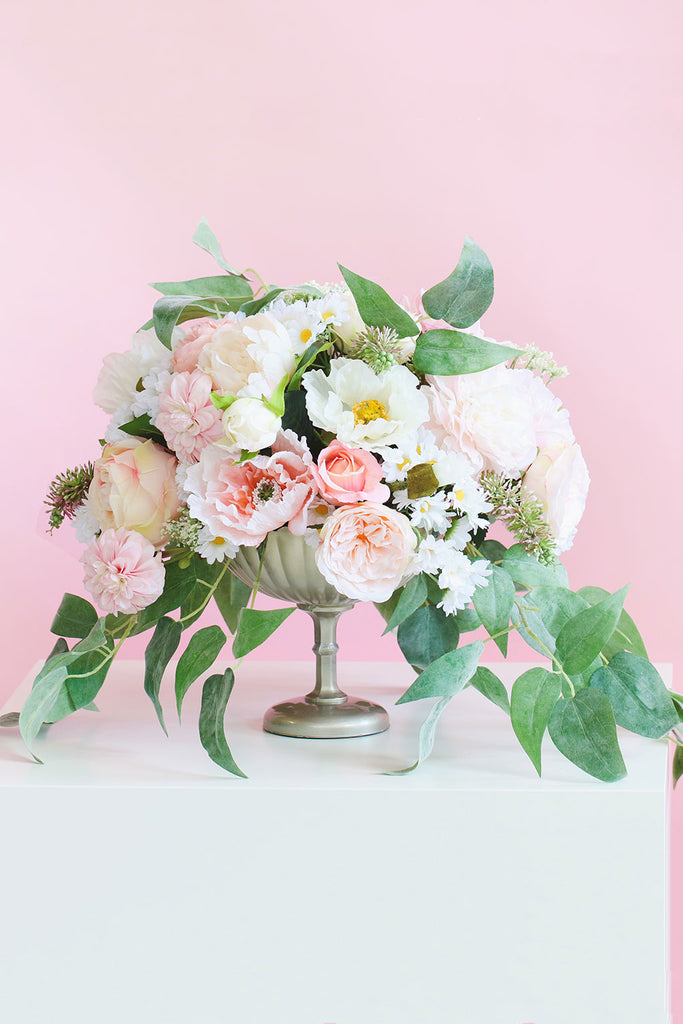 Pink Silk Flower Centerpiece