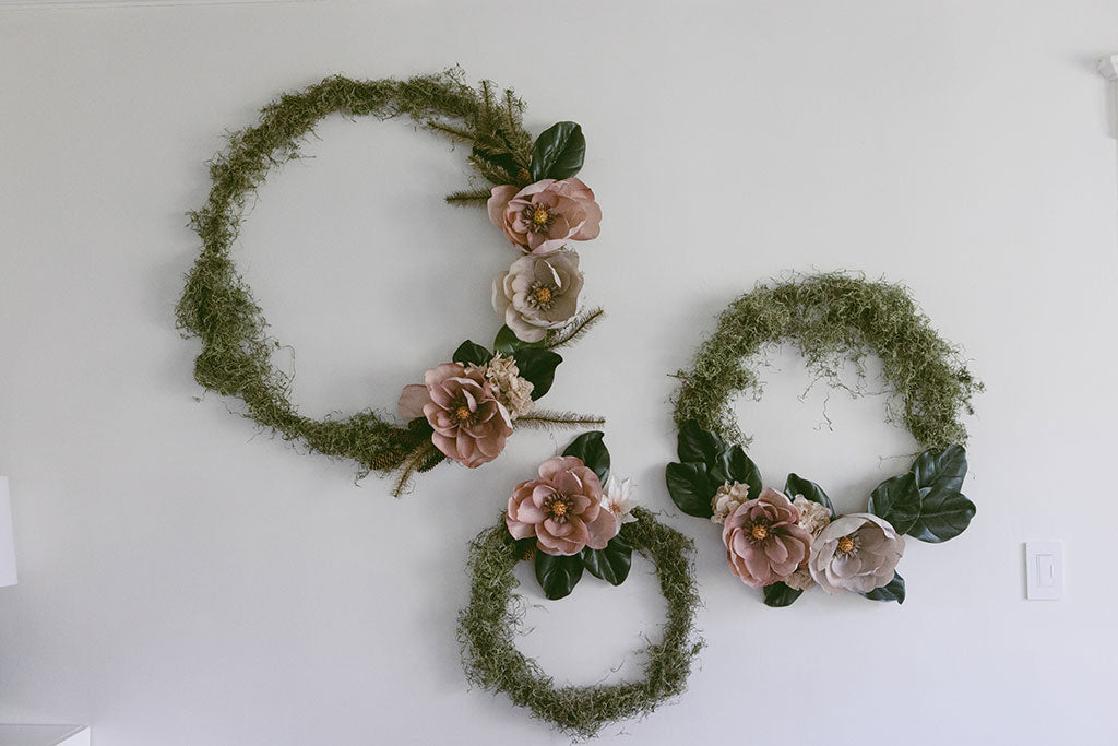 DIY Christmas Wreath with Artificial Holiday Flowers