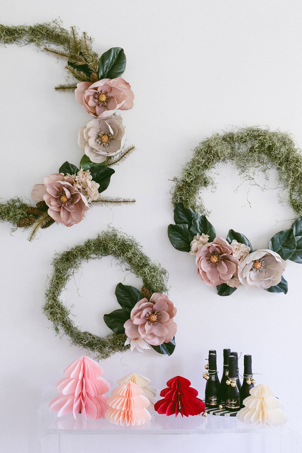 DIY Christmas Wreath with Holiday Flowers