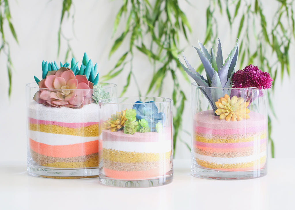 How To Make A Layered Sand Succulent Planter
