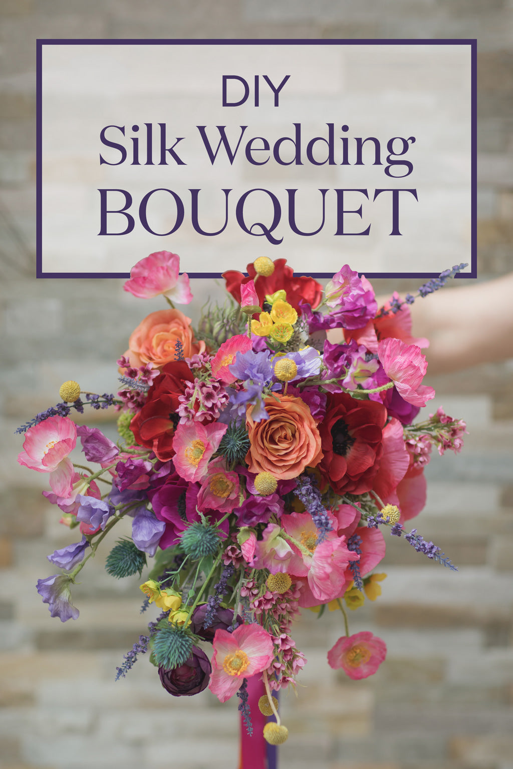 Silk Wedding Bouquet Diy Bouquet How To Make A Bouquet Afloral