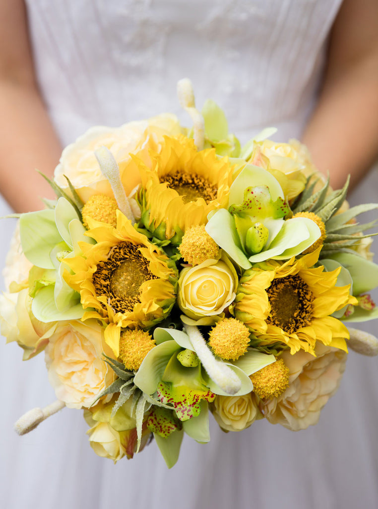 sunflower bouquets for weddings diy sunflower wedding bouquet how to make a bouquet 7823