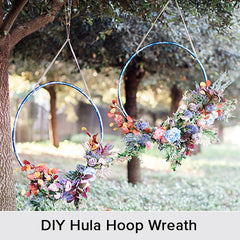 DIY Hula Hoop Wreath