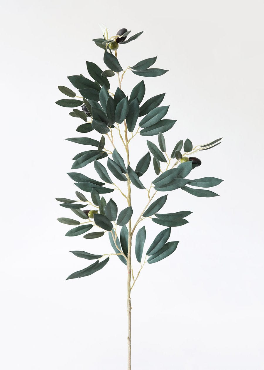 Faux Greenery Olive Leaf Branch