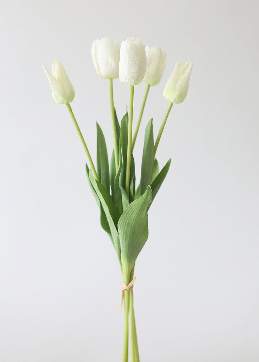 White Real Touch Tulip Bundle