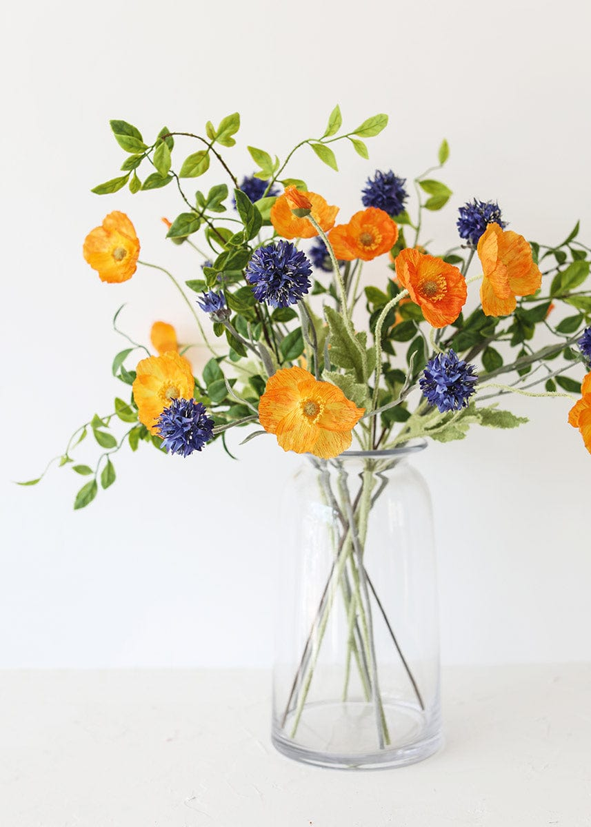 Poppy and Cornflower Wild Arrangement