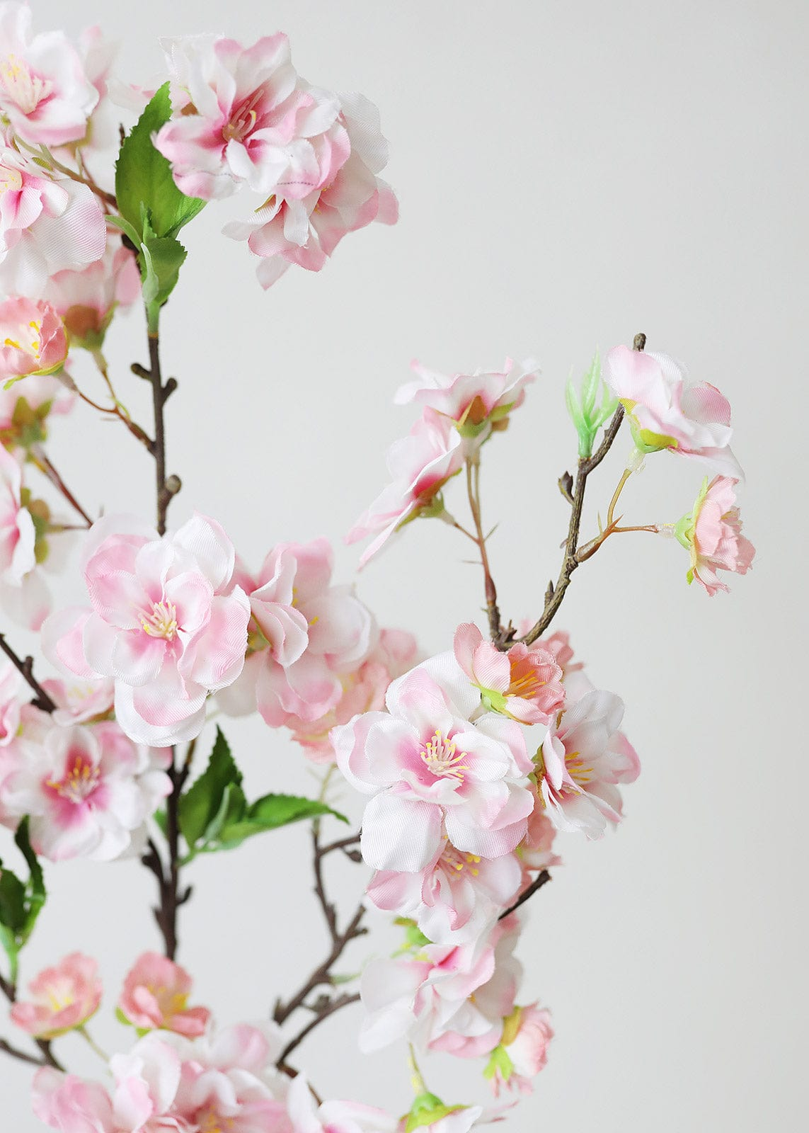 Artificial Pink Cherry Blossom Branch - 18""