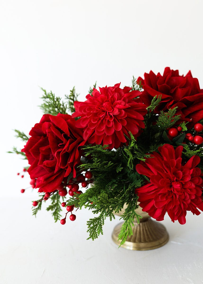 Artificial Holiday Berries in Red - 13