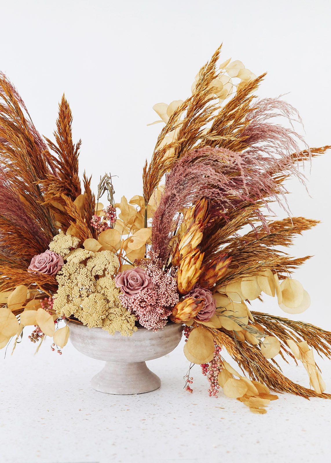 Dried Flower Arrangement with Dried Grasses