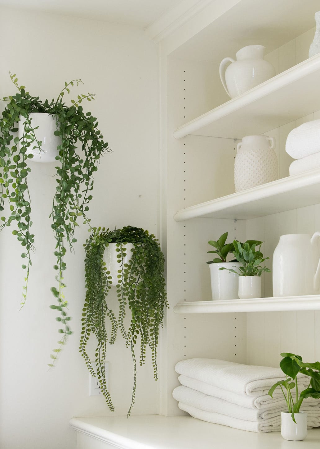 Artificial Hanging Button Leaf Plant