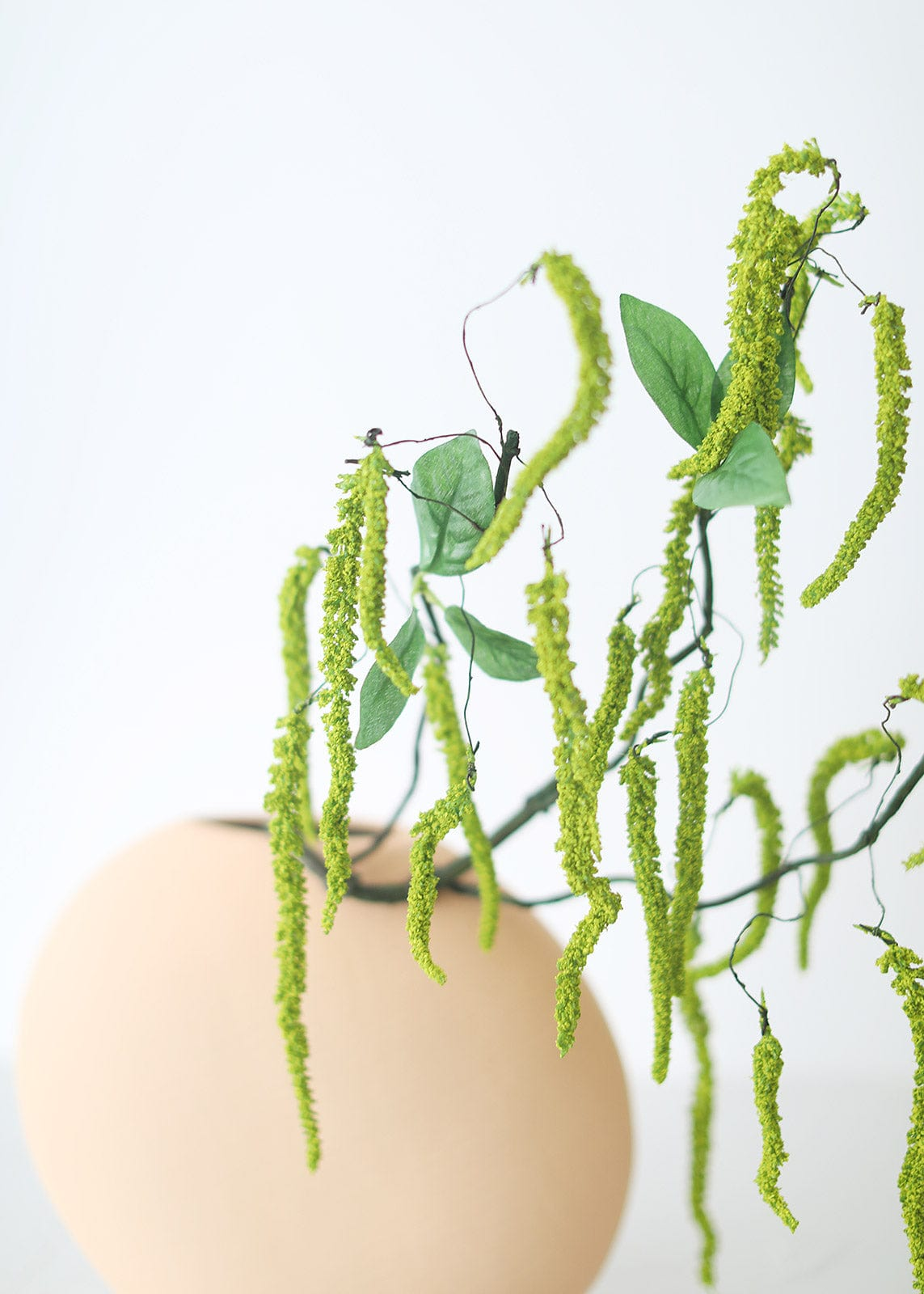 Faux Hanging Amaranthus Greenery in Vase