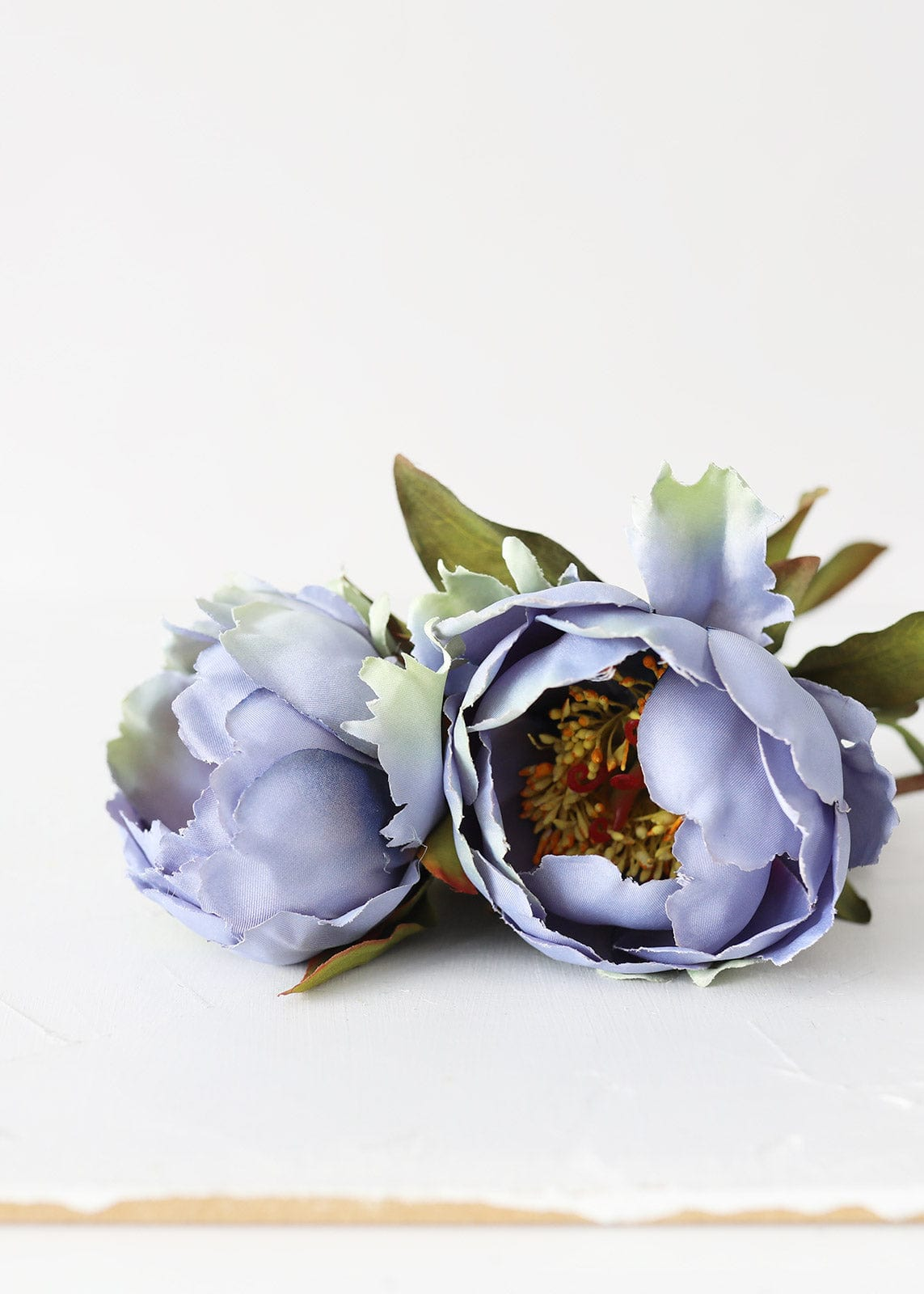 Blue Artificial Peonies Flowers