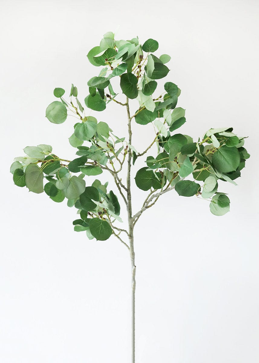 Tall Aspen Leaf Branch Artificial Leaves Greenery Stems Afloral