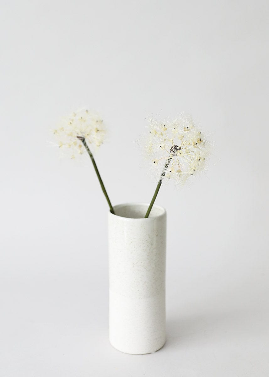 Artificial Dandelion Flower Heads in Vase