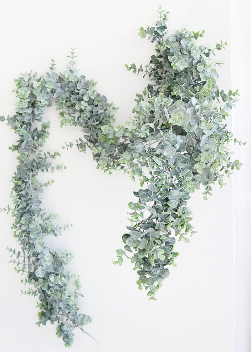 Artificial Greenery Frosted Eucalyptus Garland