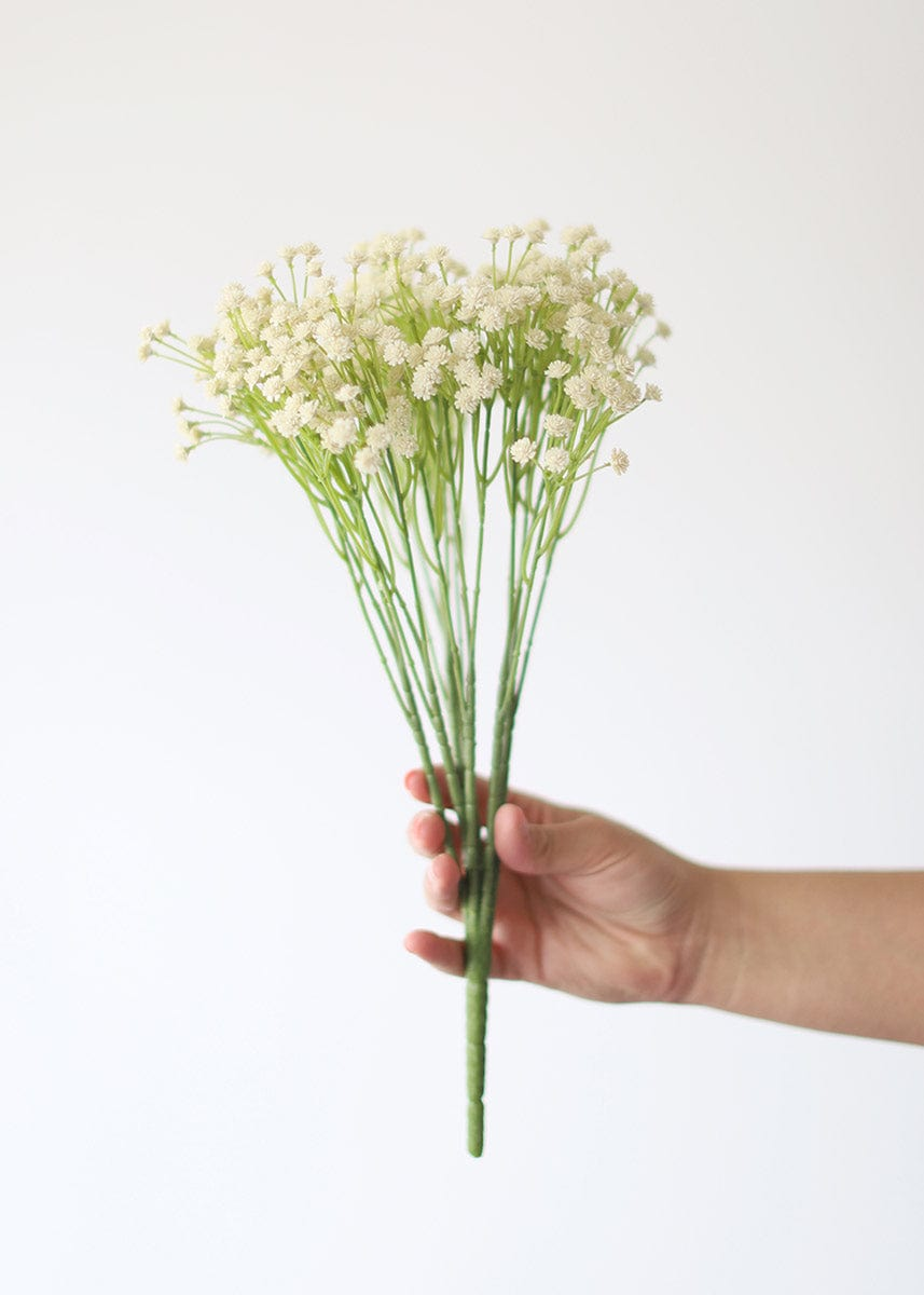 Fake Ivory Baby's Breath Bush