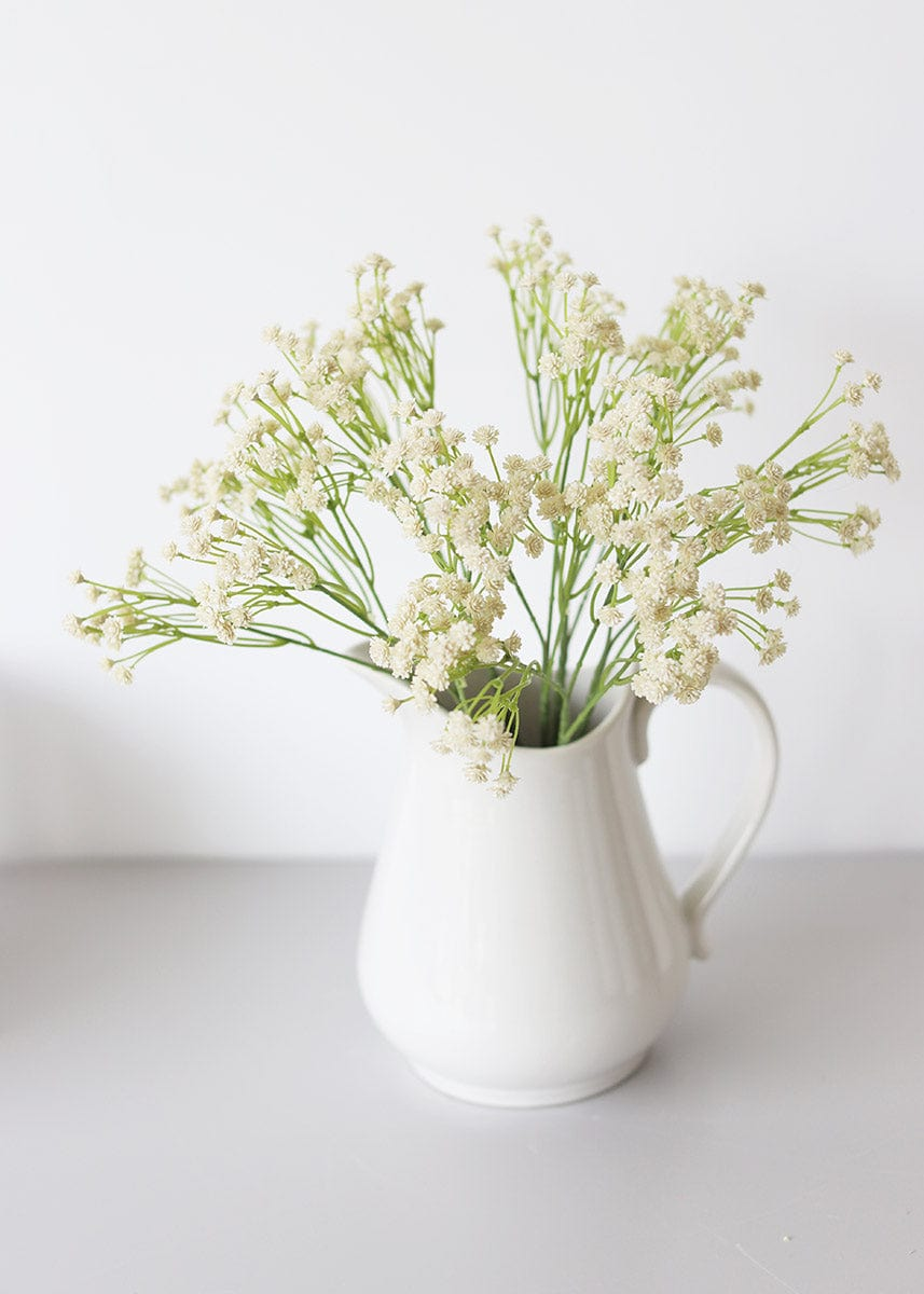 Ivory Fake Baby's Breath Flower Bush