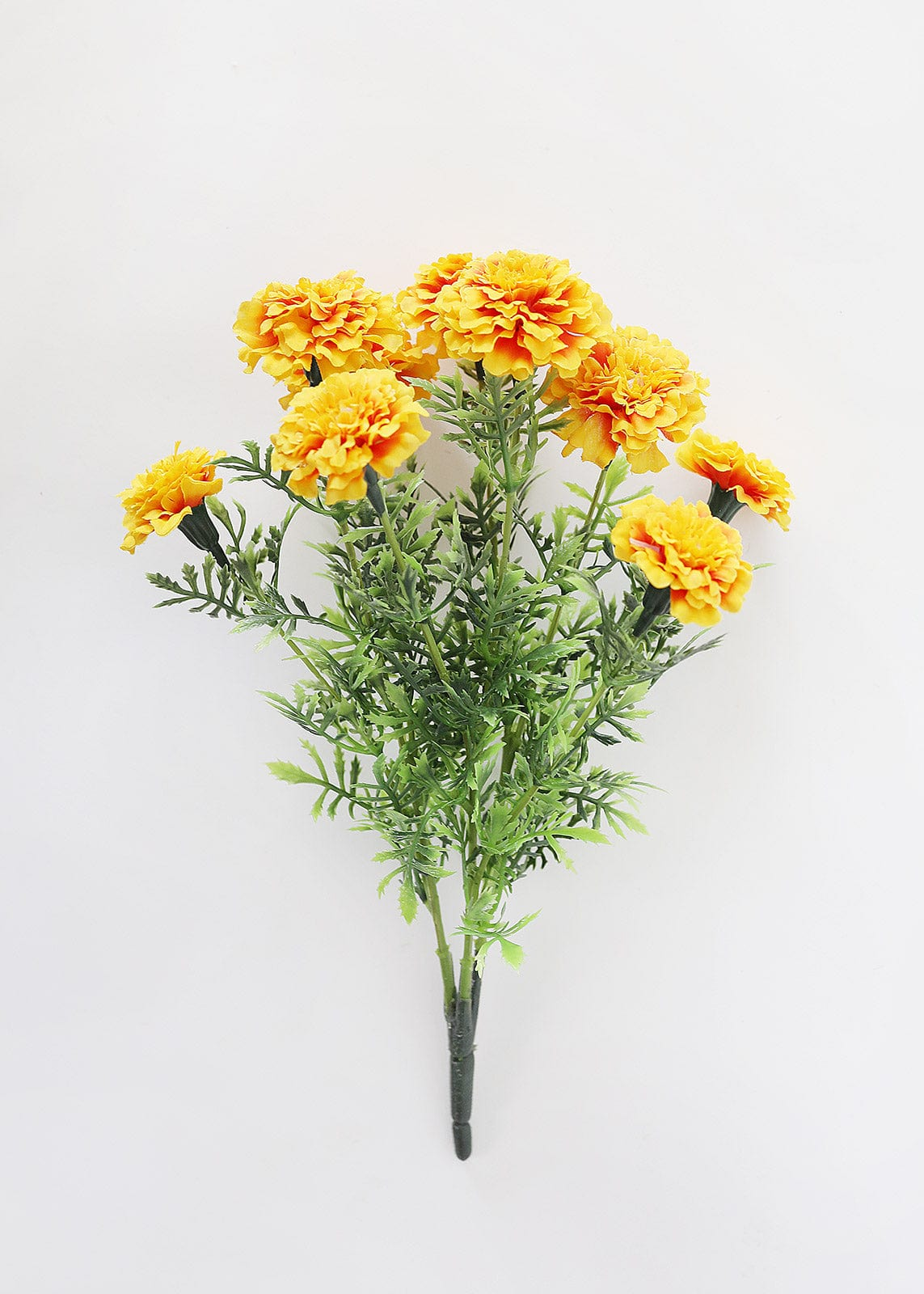 outdoor silk marigold in yellow