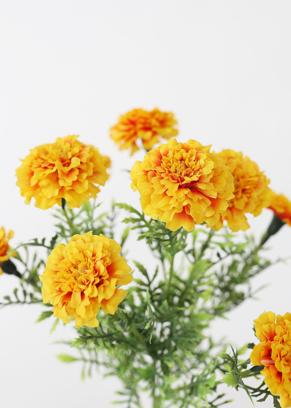 Gold Orange Faux Marigold Bush