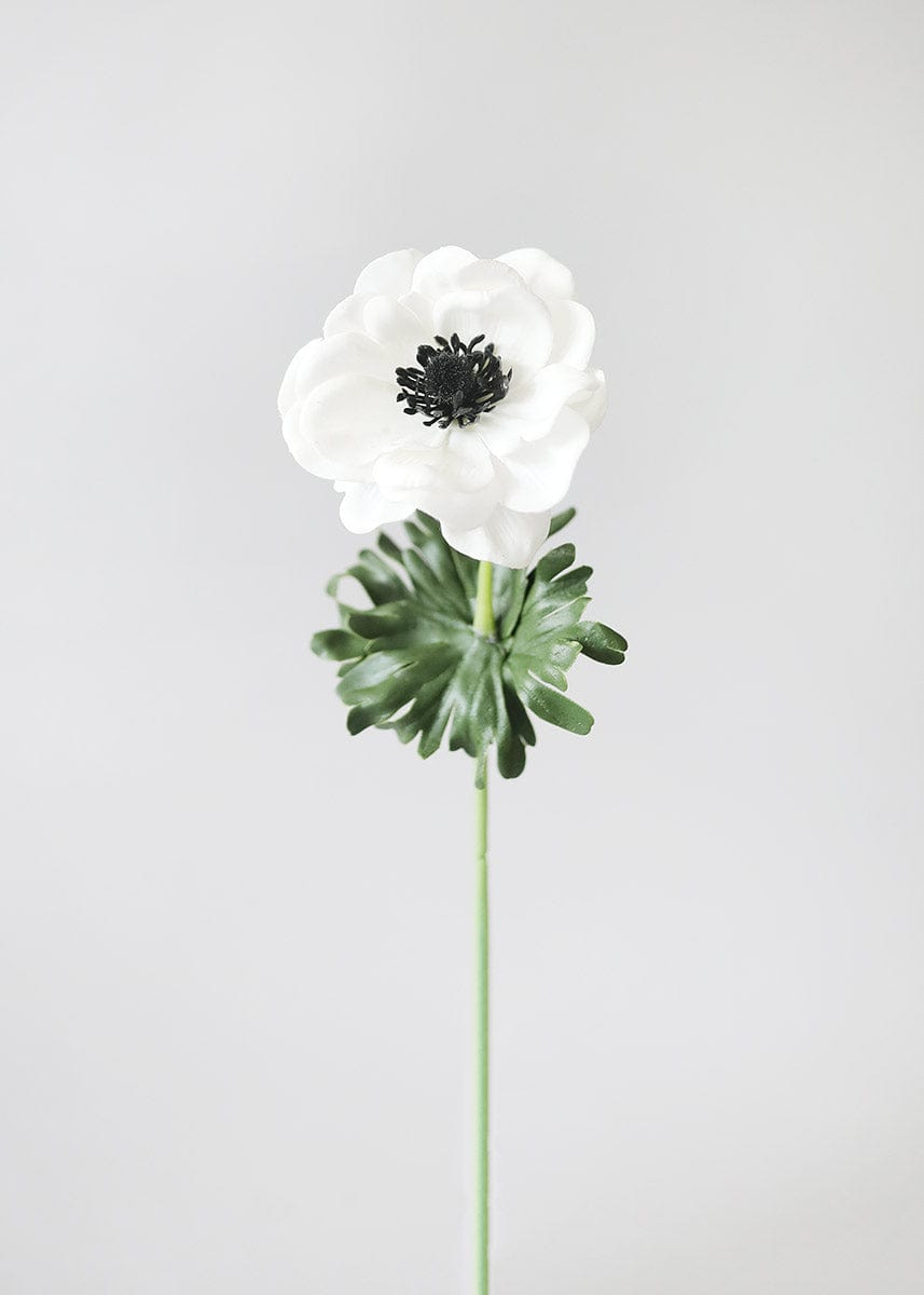Real Touch Flowers White Anemone Flower