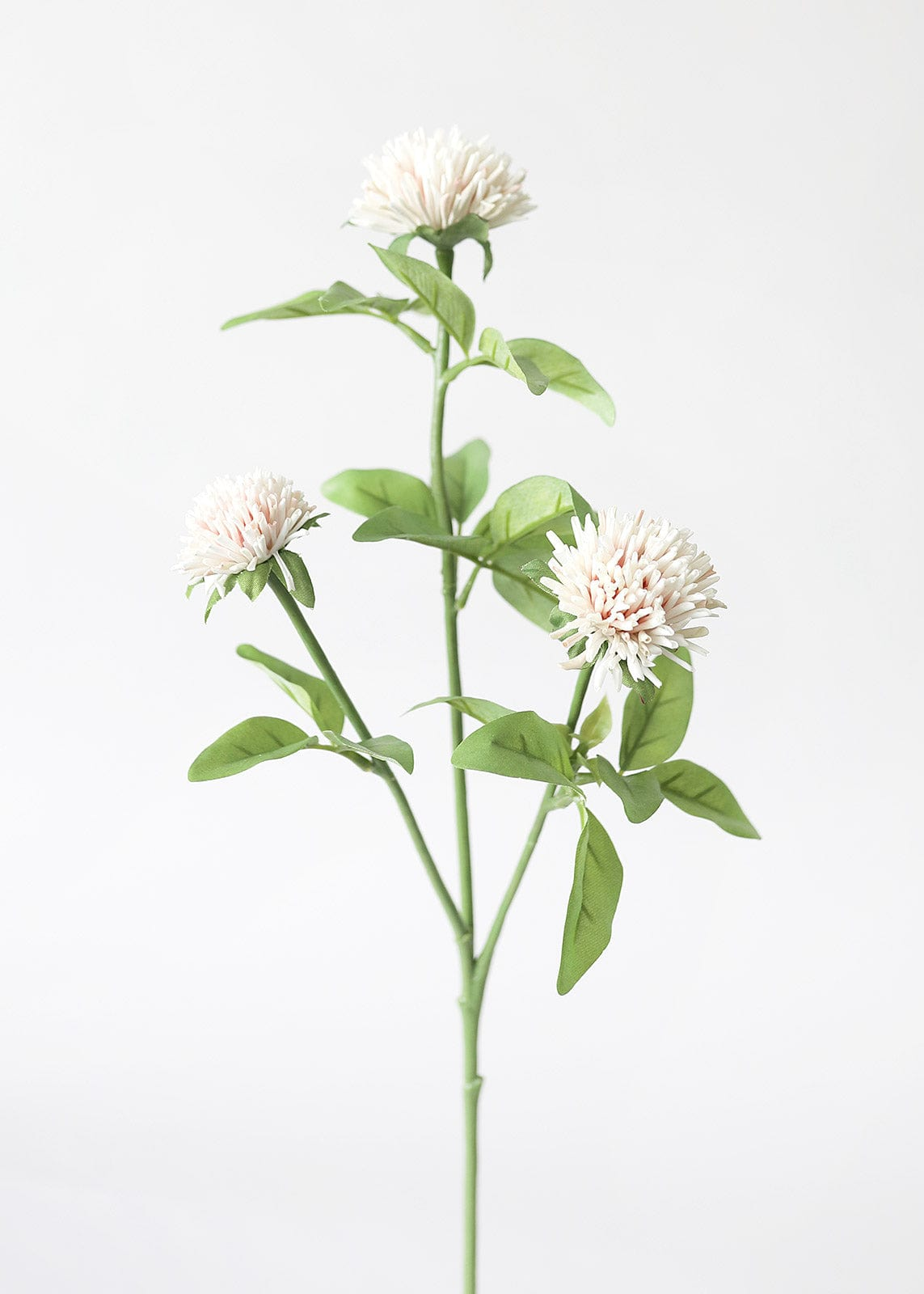 Artificial Wildflowers Clover Spray in Cream