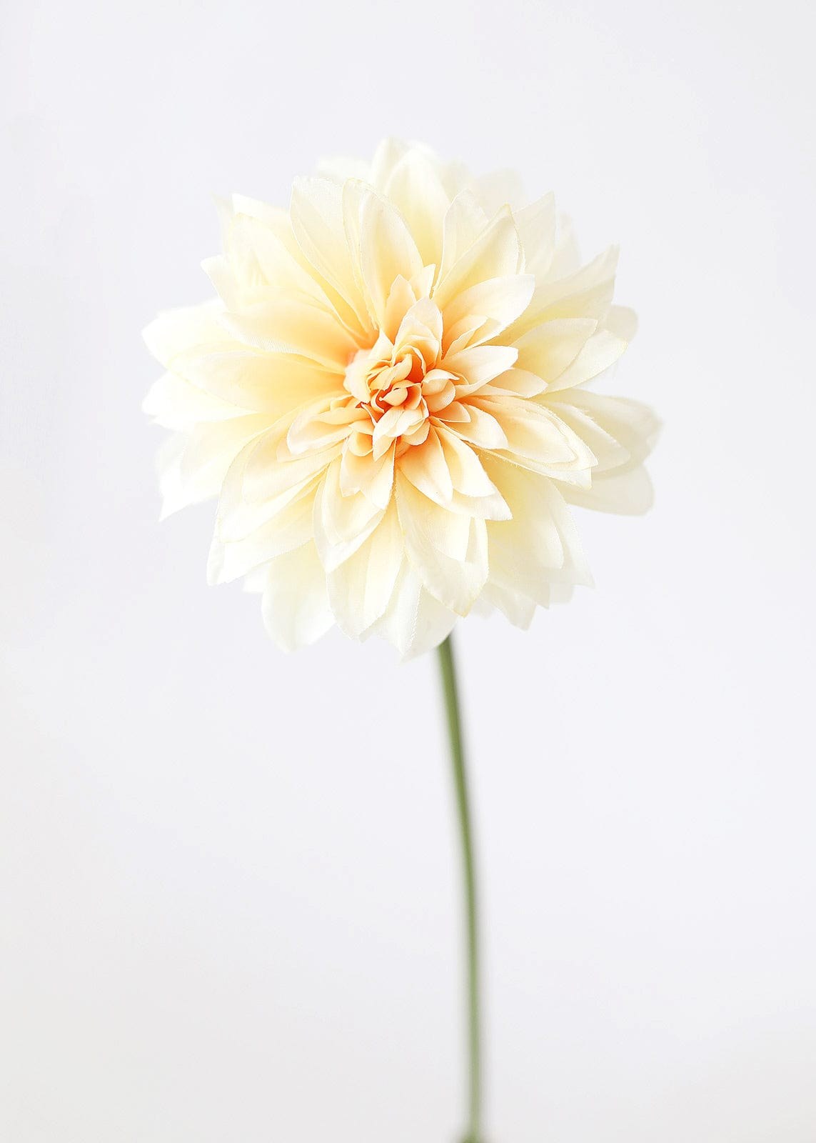 Pastel Artificial Flowers Soft Peach Dahlia Stem