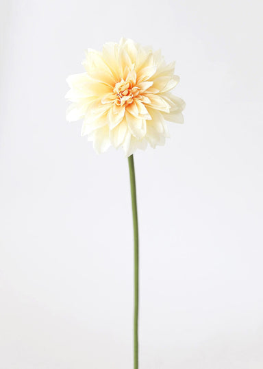 Fake Dahlia Flower in Yellow Peach