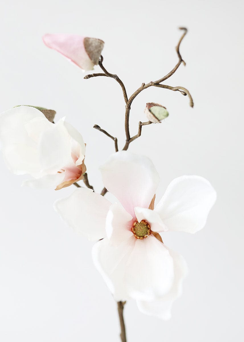 Blush Pink Fake Magnolia Branch