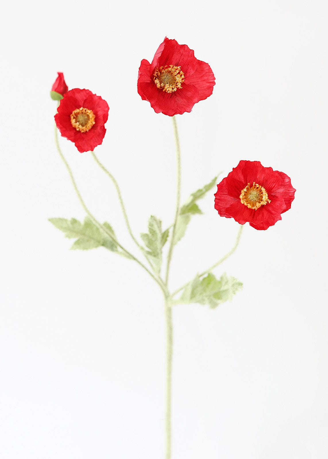 Red Artificial Poppy Flowers