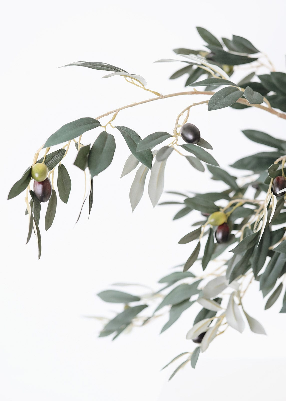 Fake Olive Leaves with Olives