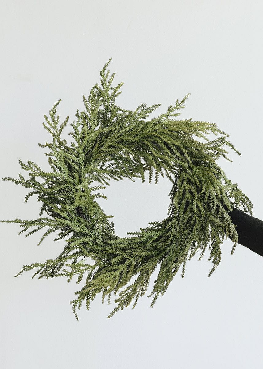 Natural Touch Green Norfolk Wreath