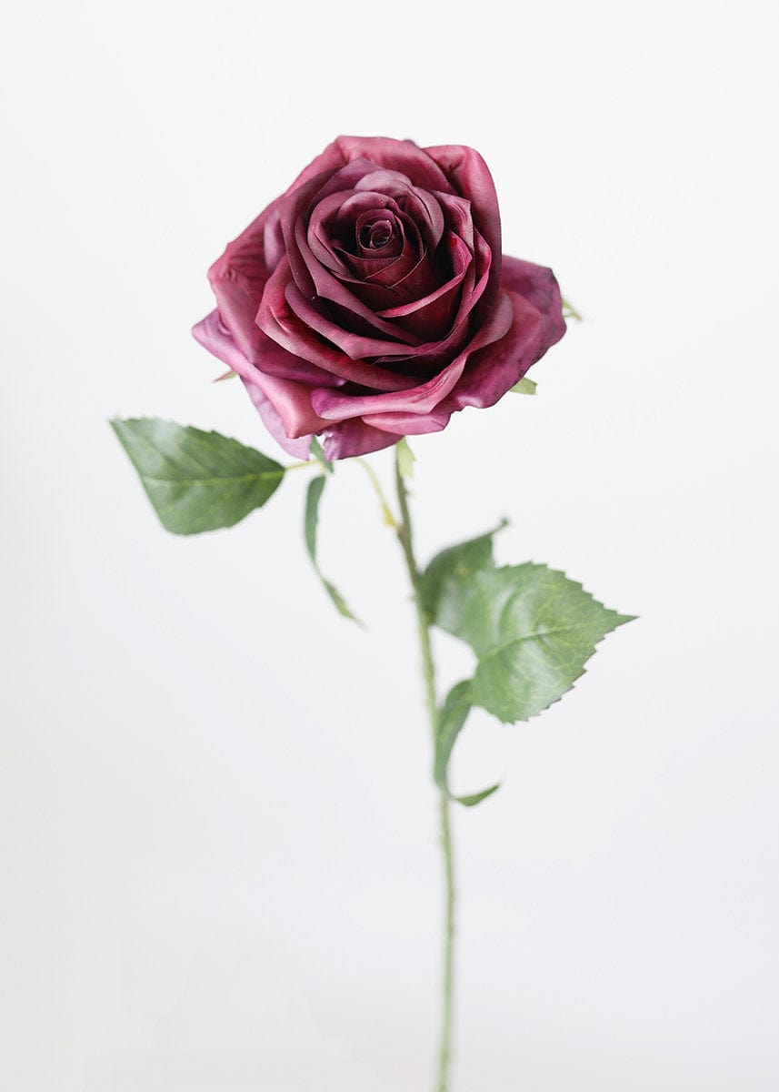 Eggplant Silk Fake Rose